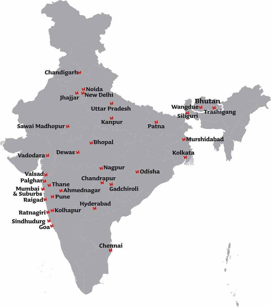 India Map Arpan Outreach