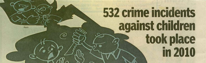 532 crime incidents againts children took place in 2010 – Times of India