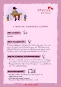 A Personal Resilience Journal COVID-19