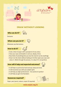 Draw without looking COVID-19