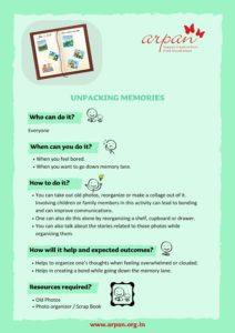 Unpacking Memories COVID-19